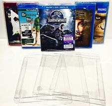 25 Clear Box Protectors For Blu-Ray / HD DVD  Custom Made Cases / Sleeves Bluray