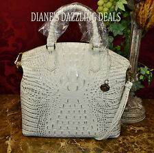 Brahmin NWT Lg Duxbury Halo Melbourne Croco Emb Leather Satchel DAZZLING BAG