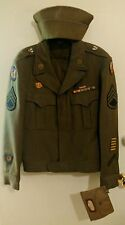 WW2 U.S. 9th Army Air Corp Uniform Jacket 40R Great Condition/Cap/Ration Holder