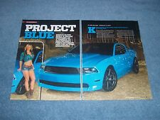 """2010 Mustang GT Coupe Custom Article """"Project Blue"""""""