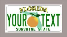 """Florida custom novelty license plate-your name or text 6""""x12""""-FREE SHIPPING a"""