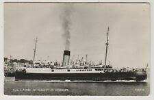 "Guernsey postcard - RMS ""Isle of Thanet"" at Guernsey - RP"