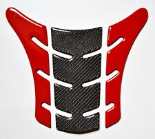Ducati Monster 696 795 796 1100 EVO Red & Real Carbon Fiber tank Pad Protector