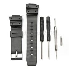 25mm Silicone Rubber Watch Strap Band For CASIO G Shock Replacement + Tool New
