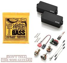 EMG P BASS BLACK  ACTIVE REPLACEMENT PICKUP ( ERNIE BALL #2833 BASS STRINGS )