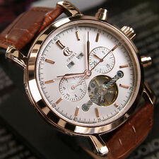 MENS CROMA AUTOMATIC CHRONOMETER DAY&DATE WHITE DIAL FASHION WATCH