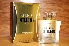 Pure P.U.R.E. Million by Giorgio Valenti 3.3 / 3.4 oz edt  Spray For Men NIB
