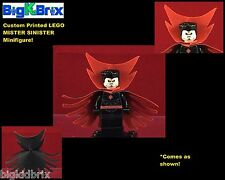 MISTER SINISTER Marvel Villain Red/Black Cape Custom Printed LEGO Minifigure