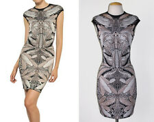 ** ALEXANDER McQUEEN ** $1,195 Spine Lace Dragonfly Jacquard Knit Dress XS