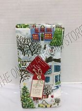 Pottery Barn Winter Village Christmas Holiday Kitchen Dining Napkins Set 4