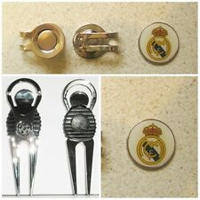 2 GOLF BALL MARKERS REAL MADRID  FC  PLUS A DIVOT TOOL &  HAT CLIP