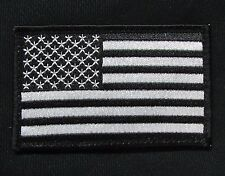 USA AMERICAN FLAG TACTICAL US ARMY MORALE MILITARY BLACK OPS WHITE VELCRO PATCH