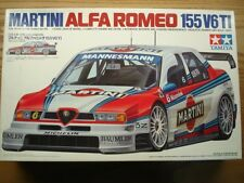 Tamiya 1:24 Scale Martini Alfa Romeo 155 V6 TI Model Kit- New #24176 - A.Nannini