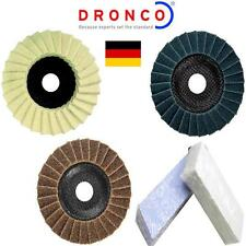 "DRONCO 115 mm METAL POLISHING KIT FOR 115 mm 4 1/2"" GRINDER INCLUDES POLISH"