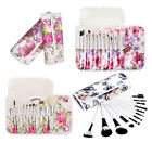 Professional 12pcs PINK/WHITE Make Up Cosmetic Makeup Brushes Kit Set with Case