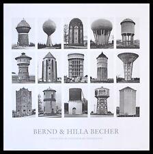 Bernd und Hilla Becher Wassertürme Poster Bild Kunstdruck im Alu Rahmen 70x70cm