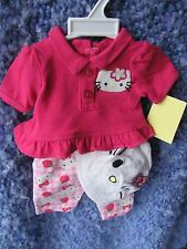 "Bitty Baby / American Girl 18"" Doll Outfit–Hot Pink Hello Kitty Adorable Mde USA"