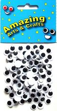 Eyes Wiggle Googly Wiggly Craft  Google 10mm Black 100