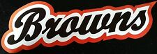 "HUGE CLEVELAND BROWNS IRON-ON PATCH - 4"" x 12"""