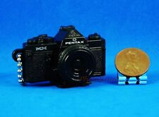 Takara Tomy Pentax Camera Figure Keychain Decoration 1:3 MX Black Model A539