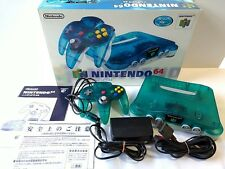 Nintendo64 Clear Blue limited edition Console,Pad,PSU,Manual,Boxed set/Tested-K-