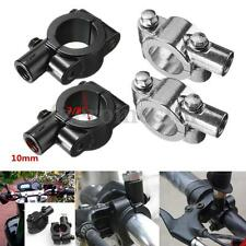 "2X 7/8"" 10mm Motorcycle Bike Handlebar Mirror Mount Adapter Holder Clamp Bicycle"