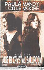 MANDY MOORE / PAULA CORE 2007 PORTLAND CONCERT TOUR POSTER - Pop, Dance Music