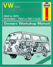 Haynes Volkswagen VW Transporter 1600 Tipo 2 1968-1979 Manuale 0082 NUOVO