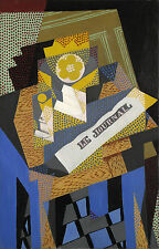 Juan Gris Reproduction: Newspaper and Fruit Dish - Fine Art Print