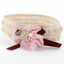 Stylish Baby Girls Elastic Hair Band Infant Flower Lace Headband Hair Headwear