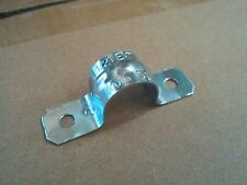 """(20 pcs) Steel 2 Two Hole EMT Straps 1-1/2"""" Snap On Electrical Conduit Fittings"""
