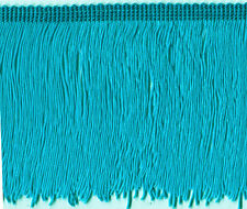 "5"" TEAL CHAINETTE  FRINGE FABRIC TRIM 10 YARDS FLAPPER SKATING DANCE COSTUME"