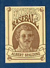 FATHERS OF BASEBALL card of ALBERT SPALDING, 19th Century Star (@1992)