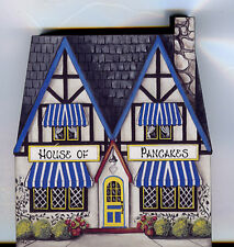 Brandywine Collectible Houses & Shops: HOUSE OF PANCAKES - Wooden Shelf Sitter