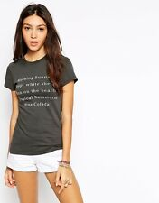 WILDFOX COUTURE ISLAND LIST TOURIST CREW TEE TOP M 10 6 38!