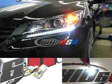 Xenon White LED Front Parking City Boomerang LED Lights For 2013 up Honda Accord