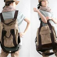 Vintage Backpack Fashion Women #A Men Shoulder Bag Canvas Travel Carry Tote
