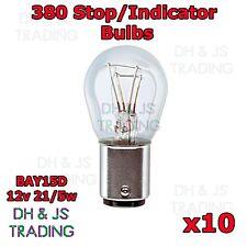 10 x 380 Stop / Tail Light Bulbs Car Auto Van 12v 21/5w Twin Filament BAY15D
