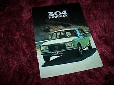 Catalogue /  Brochure PEUGEOT 304 Break 1979 //