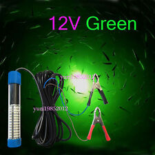 12V LED Green Underwater Squid Fishing Light Lure Submersible Fishing Boat Light