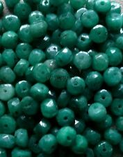 Genuine Natural Emerald Gem Stone Beads Faceted 3.5 to 4 MM (10)