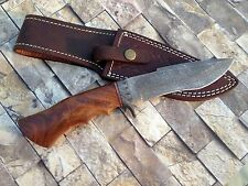 10.4 INCHES CUSTOM HANDMADE DAMASCUS HUNTING KNIFE ROSEWOOD HANDLE