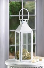Lot of 10 Classic Lantern Chic White Candle Holder Wedding Centerpieces