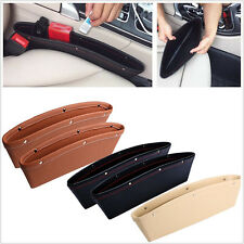 Cool Car Seat Slit Pocket Catch PU Leather Box Caddy Catcher Storage Organizer