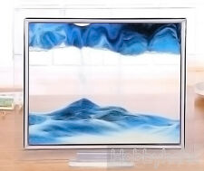 1pcs Blue Moving Sand Glass Picture Home Office Table Decor Birthday Xmas Gift