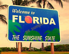 FLORIDA WELCOME SIGN - Travel Souvenir Fridge Magnet