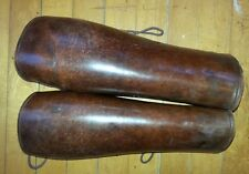 Leather PUTTES Leggings Shin Guard Military Spats Putees