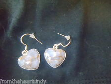 Heart - Copper White Turquoise 925 Silver Earrings Jewelry {32}