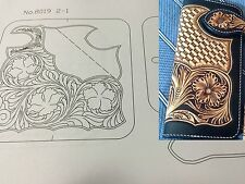 Leather craft Patterns DIY Designs Long Wallet Paper Template Drawing Tool  8019