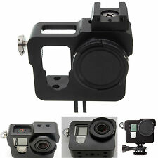 Aluminium Rig Housing Case Frame with Lens Cap for GoPro Camera Hero3 3+ 4